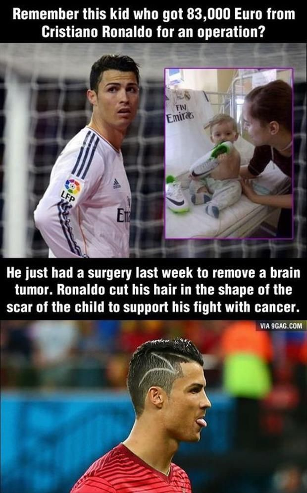 Even though I am supposed to be super anti all things having to do with Real Madrid due to the fact that I am a FC Barca fan I cannot overlook this wonderful story!: Life, Guy, Faith In Humanity Restored, Big Heart, Cristiano Ronaldo, ️Soccer ️, Christian