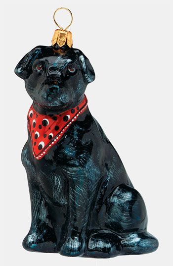 Joy to the World Collectibles 'Labrador Retriever with Bandana' Ornament available at #Nordstrom: Labrador Retriever, Holiday, Pet, Joy, Collectibles Labrador, Dog, Bandanas, Christmas Ornaments, Black Labs