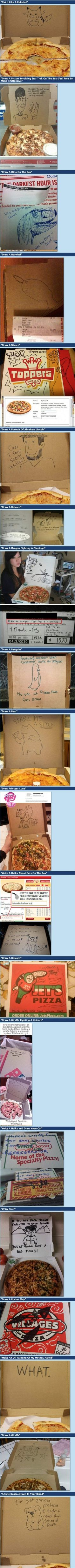 Poor pizza employees... Hahahaha