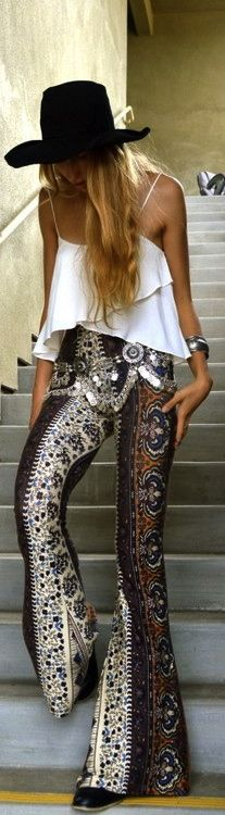 too high wasted but like the idea. on someone else though, I'd NEVER wear something like this lol: Boho Chic, Fashion, Boho Gypsy, Bohemian Chic, Outfit, Hippie Chic, Boho Style, Has