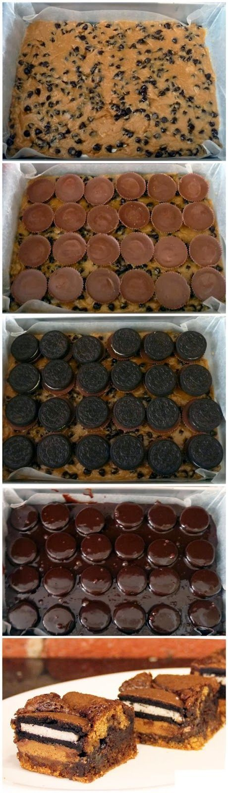 ULTIMATE Oreo brownies: Crazy Dessert, Brownie Idea, Reeces Dessert