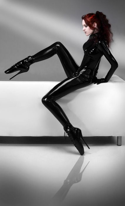 'latex cat suit  by ~AngelDragonfly -- photographer: tony pickering ,  latex fashion: tony pickering. ©2009-2012: Sexy, Latex Catsuit, Ballet Heels, Posts, Latex Fashion, Latex Fetish, High Heels, Ballet Boots, Leather