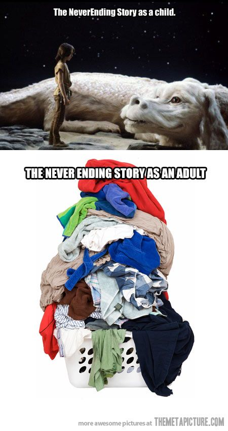 So true!!! Just when you thin you've got all the laundry done...you look in the basket and....BAM!!! Dirty shirt: Giggle, The Neverending Story, Truth, My Life, So True, Funny Stuff, Smile