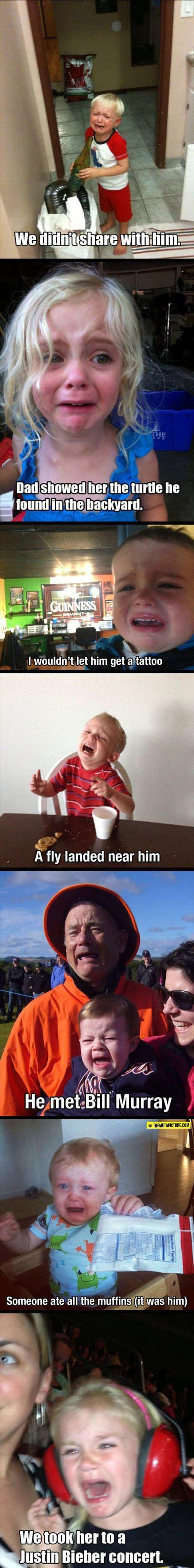 XD THE LAST ONE THOUGH: Crying Kid, Funny Kids Pictures, Children Quotes Funny, Funny Pictures And Quotes, Funny Stuff, Funny Baby, Funny Kid Quote, Funny Children Quotes