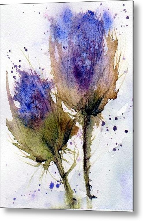 Blue Thistle Acrylic Print By Anne Duke: Tattoo Ideas, Art Painting Illustration, Art Watercolor, Inspiration, Thistle Painting, Thistles, Thistle Tattoo, Watercolour