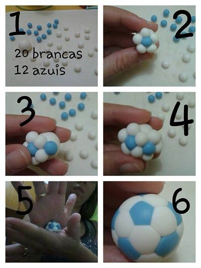 easy soccer ball: Tutorials, Cakes, Soccer Ball, Fondant Cake, Fondant Tutorial, Soccerball, Fondant Football, Cake Decorating