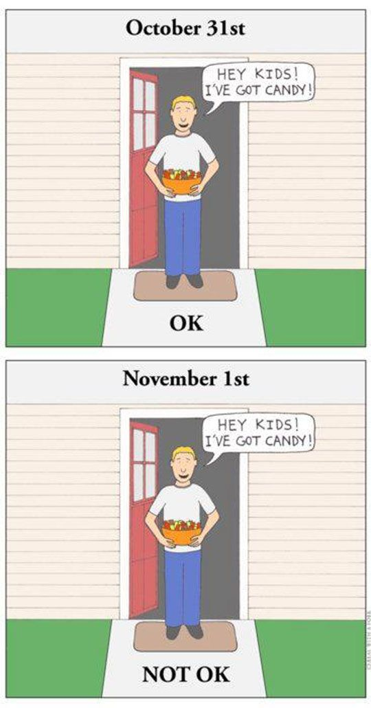 Gentle Reminder With Halloween Just Around The Corner: C Candy, Halloween Humor, Halloween Candy Quotes, Funny, Creeper Van, Candy Humor, Laughing Jack, Trick Or Treat, Candy Man