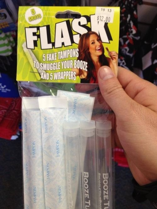 oh my god. brilliance: Ideas, Fake Tampon, Stuff, Funny, Flasks, Things, Tampon Flask