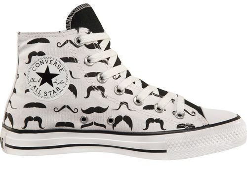 Who says girls can't have mustaches?  ....on their shoes !!! :D: Mustache Converse, Converse All Star, Fashion, Style, Stars, Mustache Shoes, Whiskers, Converse Shoe