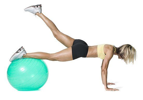 17 glute exercises - Plank Booty Leg Lifts With an Exercise Ball: Stability Ball, Butt Exercise, Weight Loss, Fitness, Exercise Ball, Booty Leg, Leg Lifts, Plank Booty, Workout