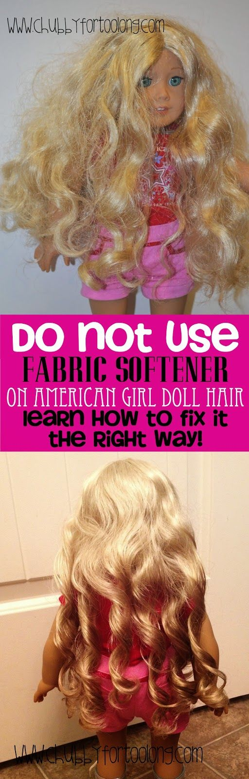 do not use fabric softener on american girl doll hair learn how to fix curly and straight doll. Black Bedroom Furniture Sets. Home Design Ideas