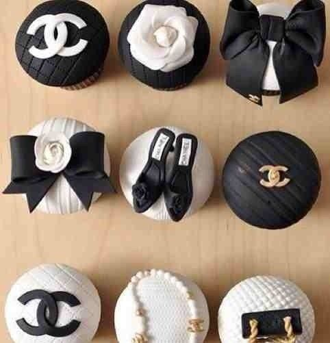 Edit Tags                        Related                       Chanel cupcakes: Cup Cakes, Birthday, Coco Chanel, Sweet, Food, Party Ideas, Dessert, Chanel Cupcakes