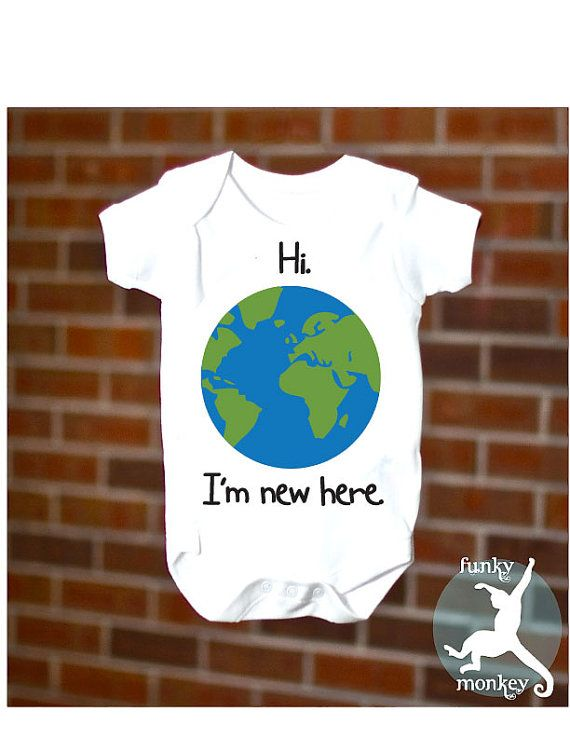 Funny Baby Onesie Hello World Girl or Boy by funkymonkeythreads, $15.99.   HOW CUTE!  might also make good gift idea for the new babes: Girls, Babies, Gift, Boys, Funnies, Funny Baby, Baby Onesie, Newborn, Funny Babies