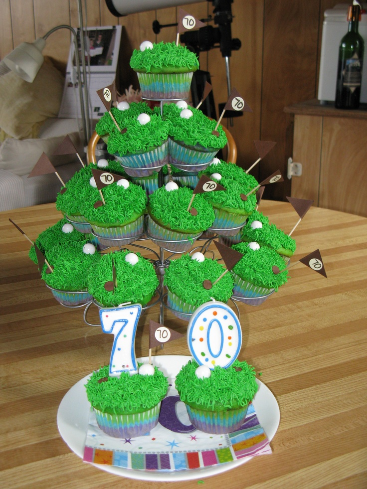 Golf cupcakes: Cupcakes Especiales, 50Th Anniversary, Cupcake Business, Specialty Cakes, Fancy Cakes, 3Rd Birthday, Golf Cupcakes, Party