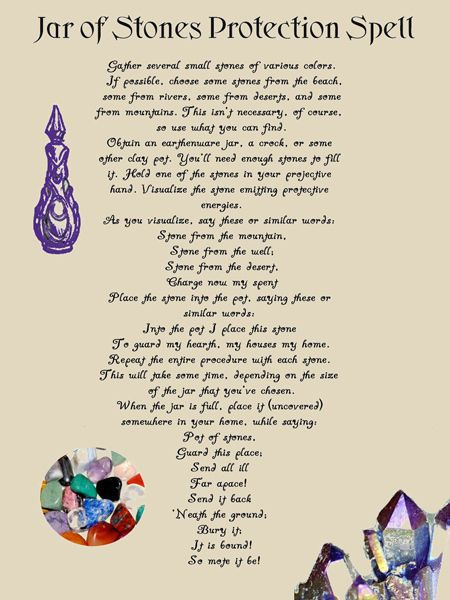 Jar of Stones Protection Wicca Spell Book of Shadows on Parchment  color pics. Make small ones and give as gifts with rhe spell.: Stones Protection, Protection Spells, Wicca Spell, Book, Forest, Shadows, Jars