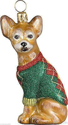 Joy To The World CHIHUAHUA Christmas ornament dog NEW: