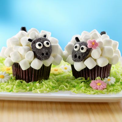 Lamb Cupcakes: Lamb Cupcakes, Cup Cakes, Sweet, Recipe, Easter, Food, Sheep Cupcakes, Cupcake Idea, Dessert