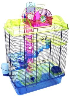 Large Here and There Hamster Cage: Large Hamster Cage, Hamsters, Animal Pet, Small Animals, Lola Pets, Hamster Cages, Dwarf Hamster Cage