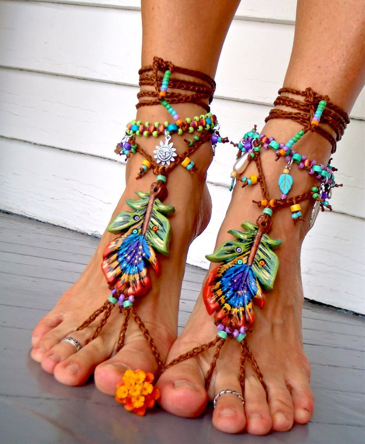 PEACOCK BAREFOOT sandals peacock feather beach wedding sole less shoes photography props HIPPIE foot jewelry beach. $90.00, via Etsy.: Peacock Feathers, Fashion, Shoes Photography, Barefoot Sandals, Props Hippie, Beach Weddings, Feet Jewelry, Photography