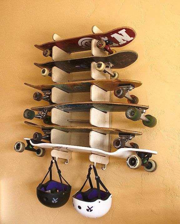 Soto6. This 6 board rack is wall mounted and holds skateboards, longboards, snowboards and more.: Longboard Rack, Holds Skateboards, Skateboard Rack, Longboards Skateboards, Longboard Skateboards, Skateboards Longboards, Design