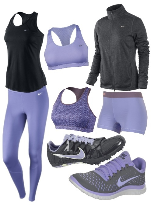 Track workout outfit: Workout Outfit, Sport Outfit Gym, Outfits Sport, Purple Outfits, Black Nike, Nike Shoes Outfit, Nike Gym Outfits, Nikes Outfits, Outfit Sport Gym