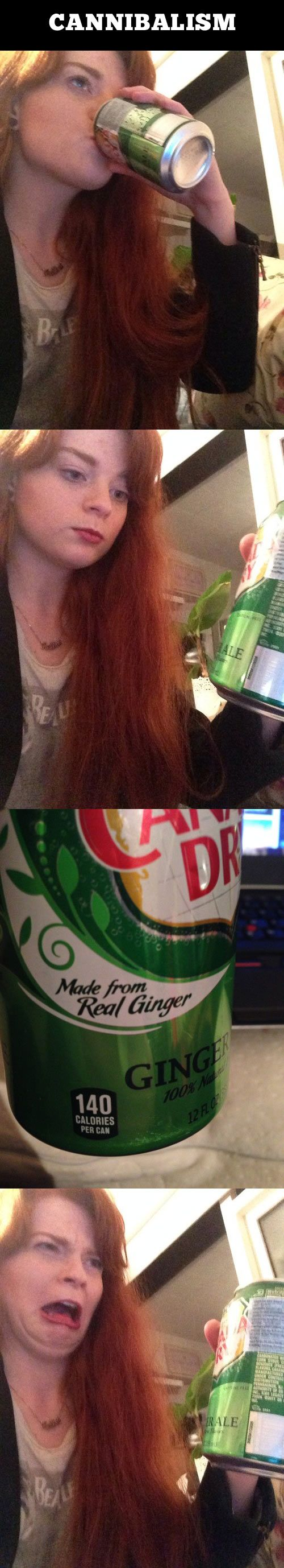 XD: Ginger Joke, Face, Funny Pictures, Funny Stuff, Funny Quotes, Redhead, Ginger Ale