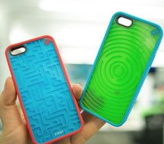 An iPhone case with a built-in maze!