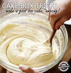 cake tips to make the average box cake - something amazing on a fork!