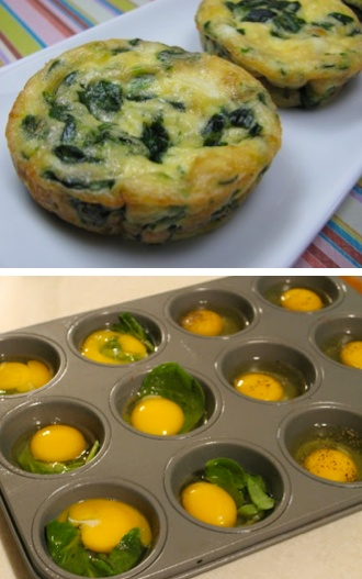 Egg breakfast. Add peppers and sprinkle a little cheese. perfect, quick, & healthy breakfast!: Breakfast, Nutritious Meal, Muffin Pans, Egg Bake, Spinach Egg, Mini Omelet