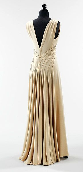 Elizabeth Hawes dress ca 1936  Love the back and flow of this!: 1930S, Vintage Fashion, Dresses, Wedding Dress, 1930 S