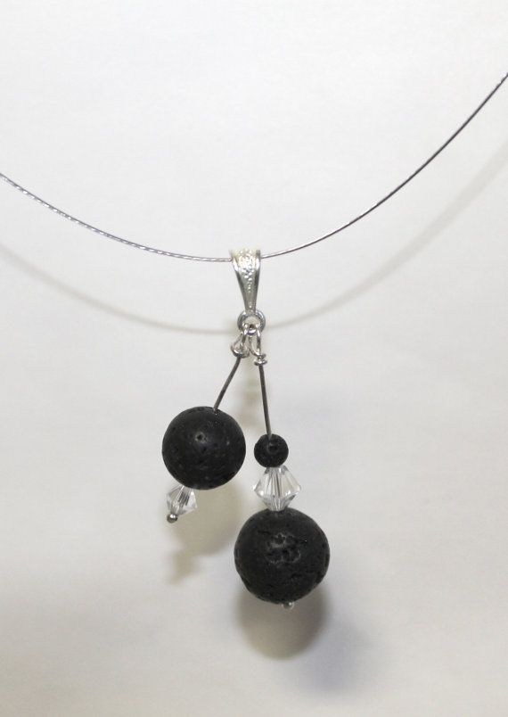 lava stone necklace: Crafty Bits, Diy Crafts, Gift Ideas, Essential Oils, Ideas Necklaces, Healing Stones, Gemstone Jewelry, Stone Necklace, Crafty Ideas