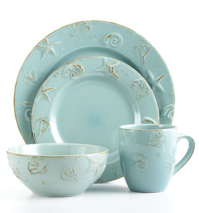 Love this set...now i am in search of it! Starfish & Seashells... so far, I only haqve the mugs ⚓  Beach Cottage Life: 16 Piece, Beach House, Pottery Cape, Beach Decor, Pottery Dinnerware, Cape Cod, Thomson Pottery