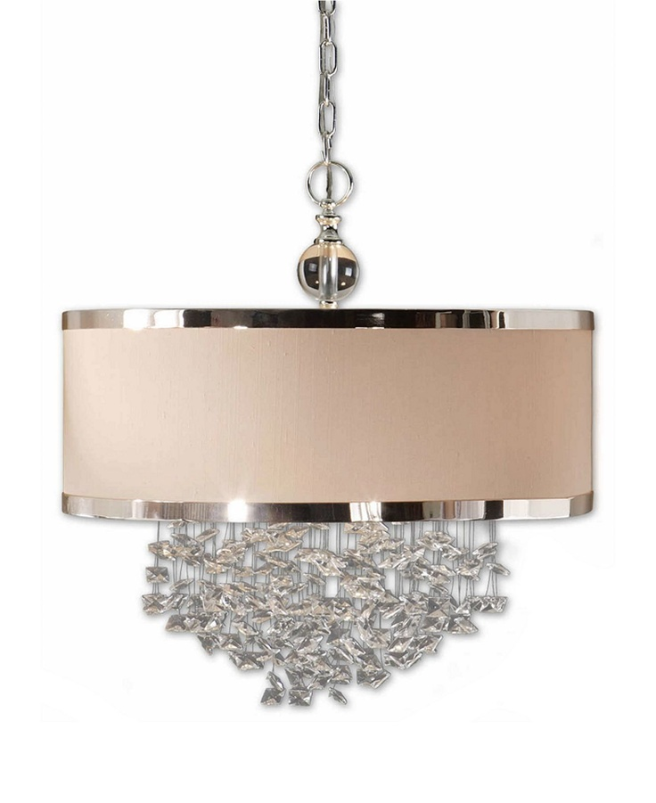 Possible dining room chandelier: Lights, Dining Room, Chandelier, Pendants, Lighting, Uttermost Fascination, Hanging Shade