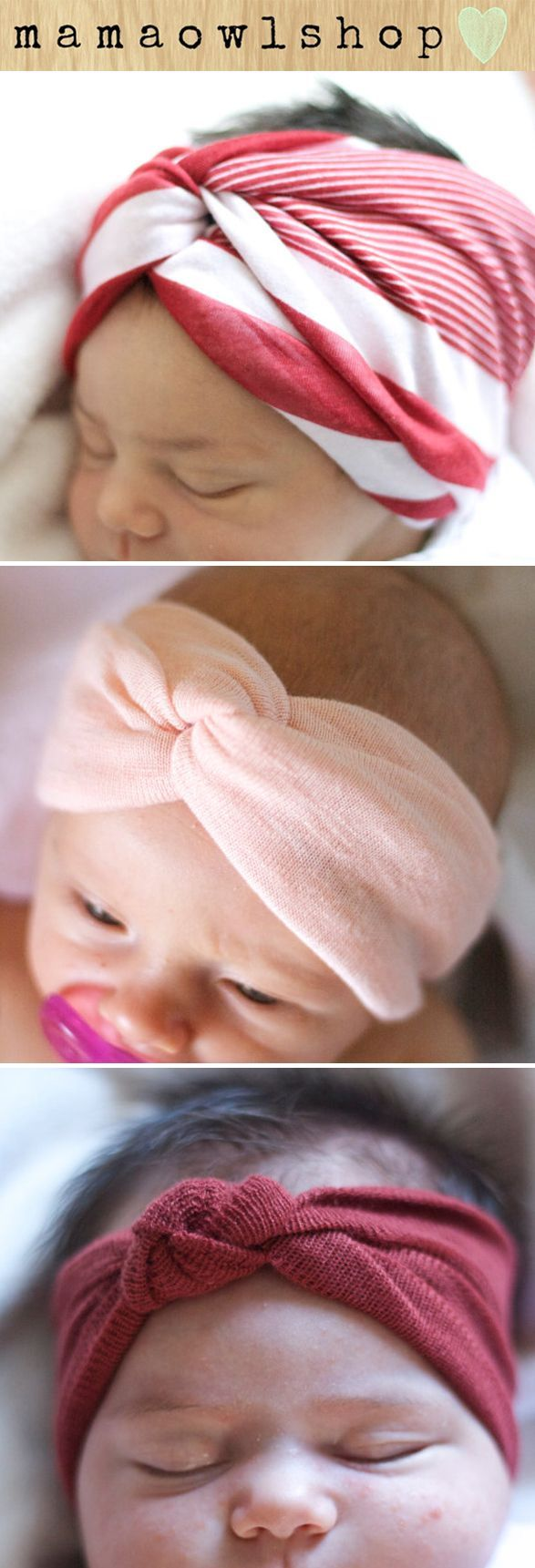 Baby Head Wraps..no instructions. I'm sure I can figure it out.: Baby Girl Turban, Diy Baby Turban, Diy Baby Head Wrap, Diy Baby Headband, Cute Baby Girl, Diy Baby Head Band, Baby Girl Head Band