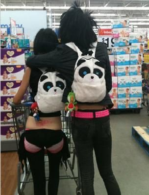 Funny Pictures Of People At Walmart. What a cute couple: Walmartians, Funny Pictures, Wal Mart, Humor, Walmart People, Walmartpeople, Pandas, People Pictures, People Of Walmart