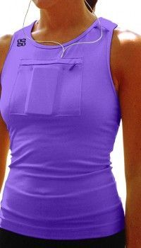 Omg! !!! I was just thinking to myself today there should be something like this!! My arm band just gets annoying.: Workout Outfit, Running Outfit, Running Tank, 5K Outfit
