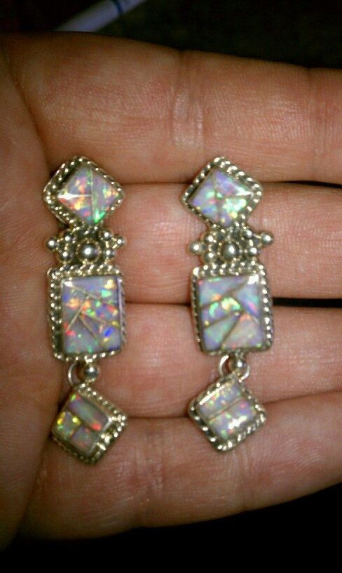 OPAL and sterling silver EARRINGS made on the Santo by rhiannonc77, $155.00: Diamonds Opals, Opal Jewelry Earrings, Sterling Silver Earrings, Opal Earrings, Etsy Earrings, Jewellery Opals, Pendientes Earrings Kolczyki
