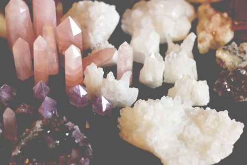 Pink Amethyst has a very high energy frequency. It also stimulates then calms and throat and heart chakras. Azeztulite is an ascension stone that is used in psychic and mystical work to raise one's vibration. Although Azeztulite is a type of quartz, i