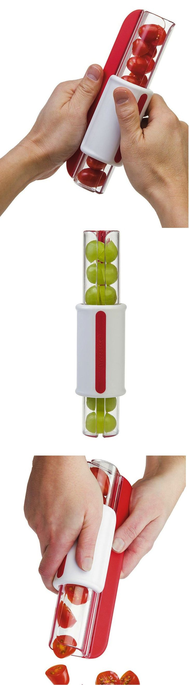 Progressive Zip Slicer: Slice cherry tomatoes, grapes and more with a quick zip! Ideal for snacks, salads and pasta.: Salad, Products Gadgets, Gadgets Kitchen, Cherry Tomatoes, Kitchen Gadgets And Gizmos, Cool Ideas, Gadgets Products, Kitchen Tools