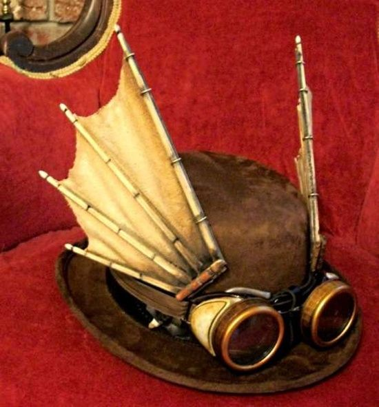 steampunk fashion for men | steampunk - men's fashion / wings. we need more wings: Masquerade, Steam Punk, Steampunk Ideas, Bat Wings, Steampunk Wings, Steampunk Hat