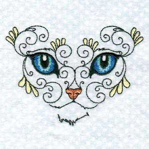 "This free embroidery design is from Design by Sick's ""Swirly Cat Face"" collection.: Machine Embroidery Freebie, Cat Face, Free Embroidery Design, Embroidery Crosstitch"