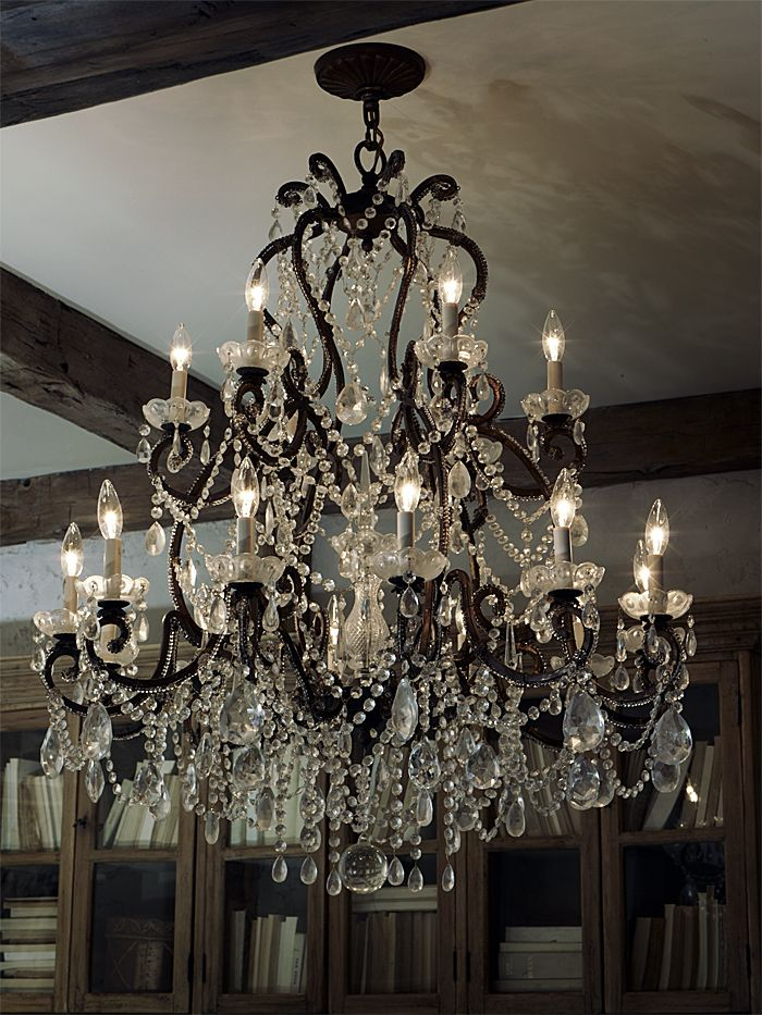 crystal chandelier: Crystal Chandeliers, Decorating Ideas, Ralph Lauren Home, Home Decor, Ralphlauren, House, Homes, Light