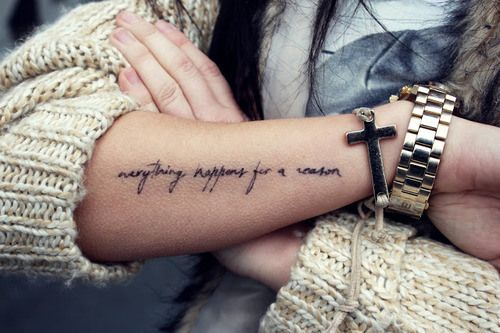 Everything happens for a reason. Love the placement.. Hmmmm..: Tattoo Ideas, Tattoo Placement, Tattoo Piercing, Body Art, Tattoos Piercing, Tatoo