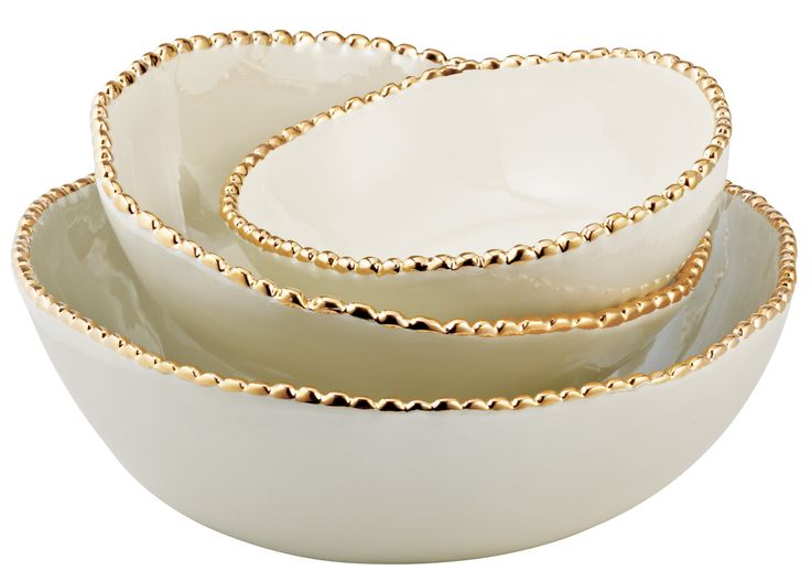 Gold-Studded Stacking Bowls: Dream, Vanity Table, Gifts, Things, Gold Studded Stacking, Christmas Table, Stacking Bowls