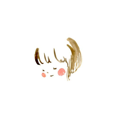 Less is more. Very cute and I love all the white space. Would be adorable in a little girl's nursery/room.: Little Girls, Art Illustrations, Simple Portrait Illustration, Simple Girl Illustration, Girl Illustrations, Baby Girl Portraits, Kids, Simple