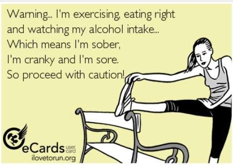 LOL. @Kari Zirkle-Schaeffer   This is how I feel!!!  Minus sober...I'm not giving up booze for anything!!!!  Haha: Quotes, Fitness, Truth, Watch, Funny, So True, Funnies