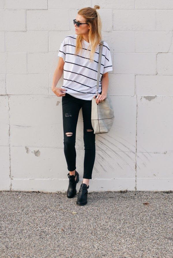 Pinterest: kylizzlerussett☽: Ripped Jeans, Skinny Jeans, Zara Fashion, Black Jeans, Tumblr Fashion Indie, Tumblr Outfits Indie, Zara Clothes, Fashion Blogger Style