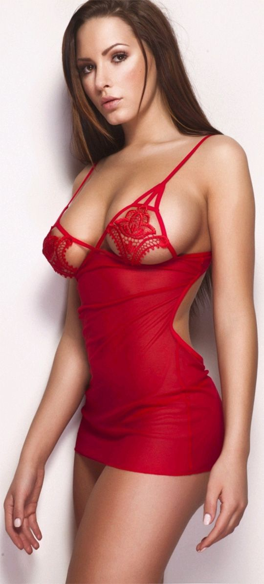 Sabine Jemeljanova: Girls, Red, Beautiful, Sexy Lingerie, Hot, Beauty, Women, Sabine Jemeljanova, Babe