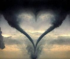 Texas heart tornado - the middle of the heart is a 3rd tornado forming - scary but beautiful!
