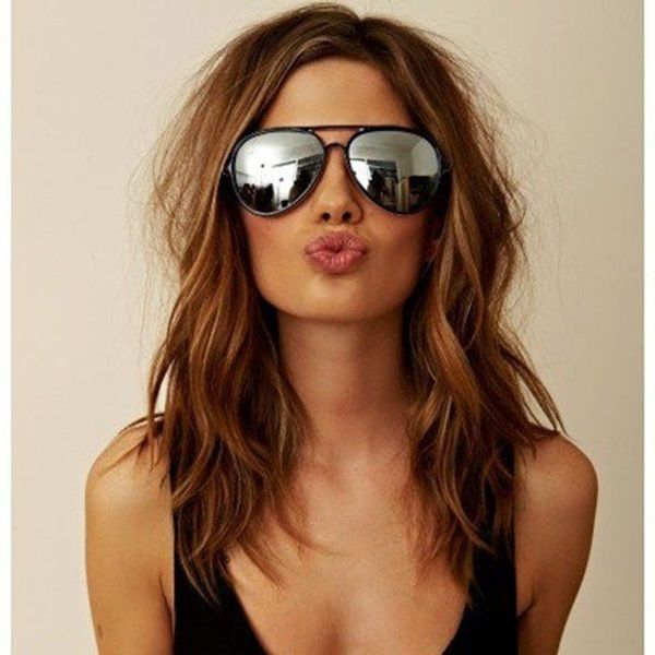 30 Gorgeous Shoulder Length Hairstyles To Try This Year | http://stylishwife.com/2015/06/gorgeous-shoulder-length-hairstyles-to-try-this-year.html: Hairstyles, Fashion, Hair Colors, Hair Styles, Haircolor, Hair Cut, Ray Ban, Haircut, Beauty